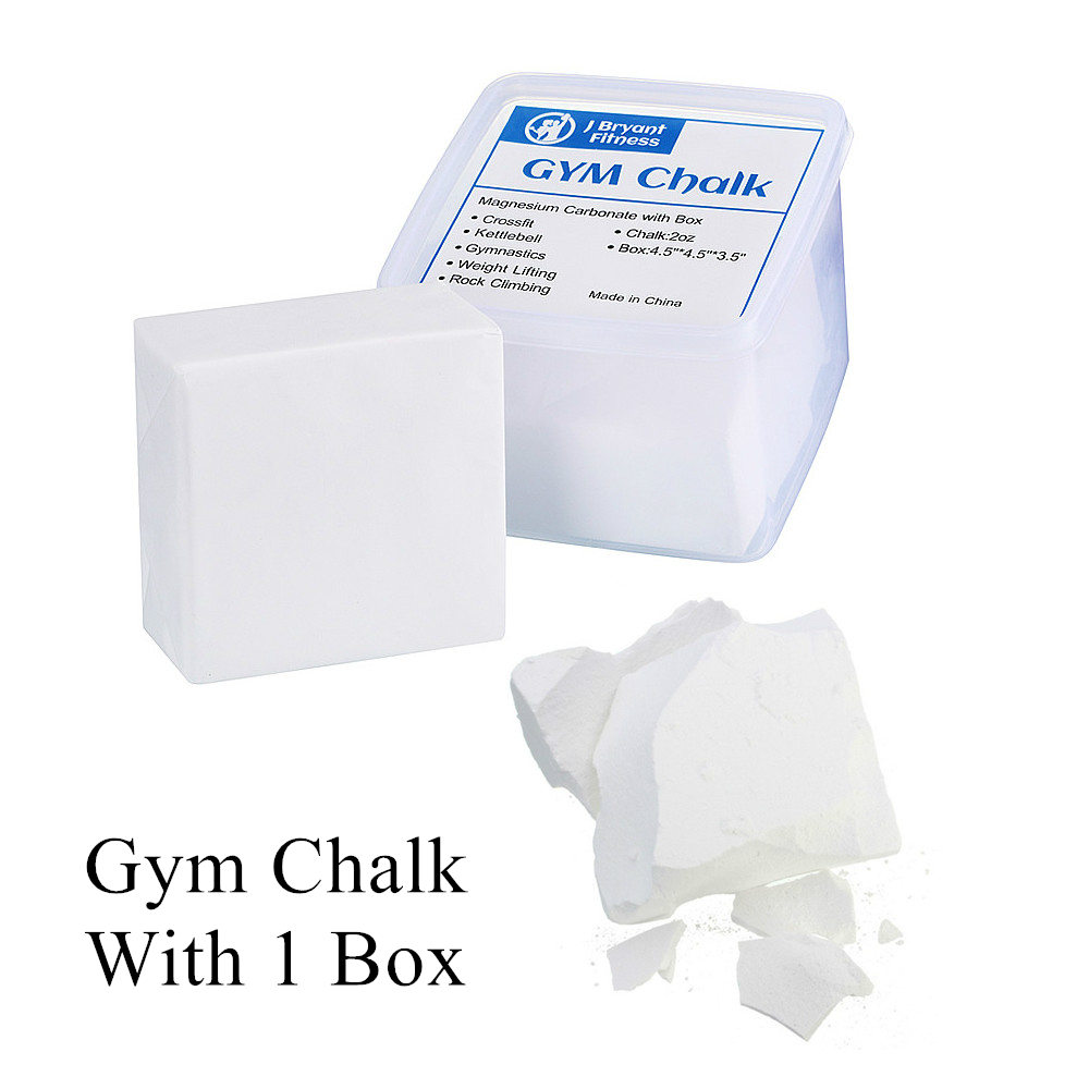 Gym Chalk Block With Box - Magnesium Carbonate - Used For Gymnastics  Power Lifting  Crossfit -No Slip No Moisture Chalk