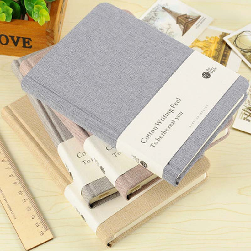 A5 Blank Notebook Stationery Cotton Cloth Office Personal Diary / Week Plan / Agenda Fashion Blank Notepad School Stationery