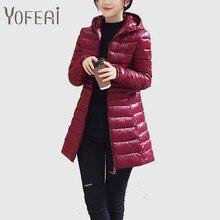 YOFEAI 2016 Пальто и Куртки Зимние Пальто Длинные Случайные Пальто Для женщина Зима Тонкий Пальто Теплое Женщины Куртка Плюс Размер 4XL 5XL