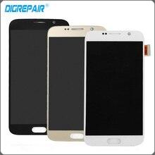 Новый ЖК-дисплей для Samsung Galaxy S6 G920 G920f ЖК-дисплей золото белый синий дисплей Сенсорный экран с планшета полный сборки заменяемой