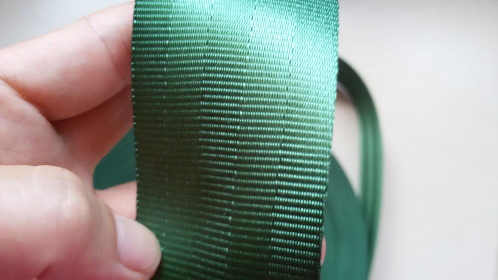 15 meters Roll Seat Belt Webbing Safety Strap green Color 4 8cm Wide 5 Bars