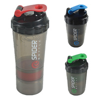 Whey Protein Suplementos Proteina Shaker 3 In 1 Bottle With Inserted Mixing Ball 3 Colors 1