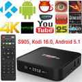Caixa de TV kodi T95M AKASO 64Bit S905 Amlogic Quad Core Android 5.1 smart 4 k hd media player 8 gb construído em 2.4g wifi Bluetooth