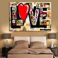 Cartel HD impresión Calle Arte Graffiti 3D amor rojo moderno abstracto lienzo pintura arte pared Cuadros para sala de estar Cuadros Decoración