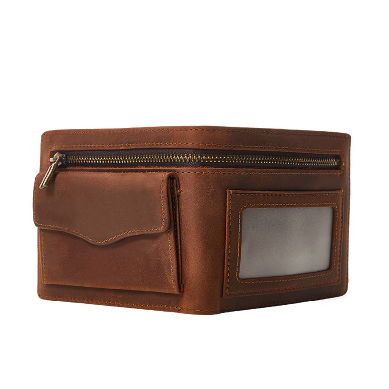 Genuine Cowhide Leather Wallet Zipper Coin Pocket Vintage Mens Wallets Purse Male Coin Purse Wallet Small Card Holder Men Purse guapissima guapissima gu016awida28