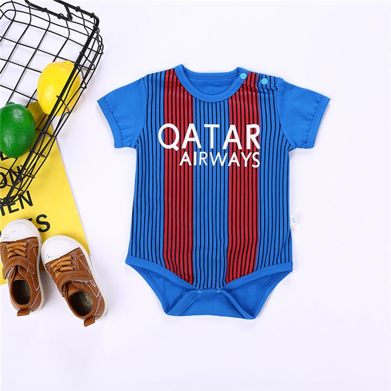 Football Baby Sports Rompers Cotton Short Sleeve Infant Newborn Baby Clothes Soft Summer Bebe Roupas Kids Bodykit Retail