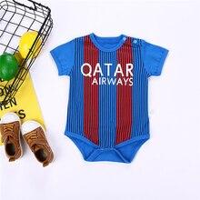 ca4541ad Mamelucos deportivos para bebés de fútbol de algodón de manga corta para  bebés recién nacidos ropa suave de verano para niños