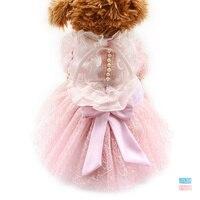 Armi Store White Beads Adornment Dog Dress Dogs Wedding Dresses 6073016 Pet Skirt Clothing Supplies XS