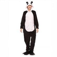 Зимние пижамы с рисунками из мультфильмов Толстовка фланелевые милое  животное панда Пижама Kigurumi домашний Пижама Аниме 560e2daec4d17