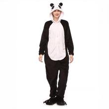 Winter Cartoon Sleepwear Hoodie Flannel Cute Animal Panda Pajamas Kigurumi Home Anime Pijama For Couple Women