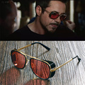 Male Steampunk Sunglasses Tony Stark Iron Man Matsuda Sunglasses Retro Vintage Eyewear Steampunk Sun Glasses UV400 Oculos De Sol
