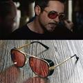 Masculinos Matsuda Tony Stark Iron Man Steampunk Gafas de Sol gafas de Sol Gafas Retro de La Vendimia de Steampunk Gafas de Sol UV400 Gafas de Sol
