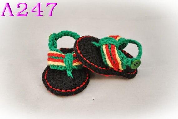 Crochet Baby boy Shoes Handmade crocheted Baby newborn Flip-Flops