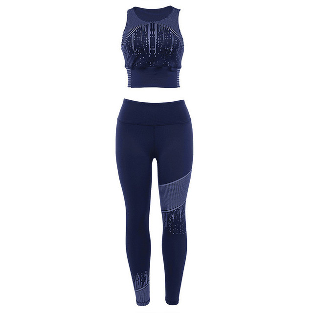 Sexy Set New Tracksuit Sport Suit Clothes Sports Bra+ Slim Pants Wear For Women Sportswear Gym Fitness Clothing Female Set CK907