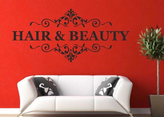Hair & Beauty Wall Art Decal Quote Nail Beauty Salon Hairdresser ...