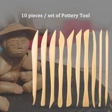 10pcs/set Clay Sculpting Tool Wax Carving Pottery Tools Plastic Carving Sculpture Shaper Polymer Modeling Clay Tools