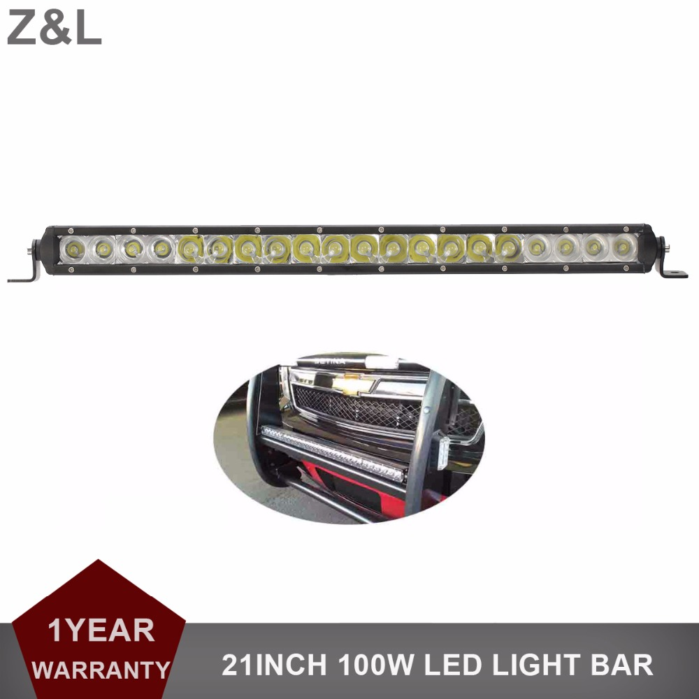 цена 21 Inch 100W Offroad LED Light Bar Driving Lamp 12V 24V Car SUV Truck Trailer Pickup Van Camper Wagon 4WD AWD 4X4 UTV Headlight