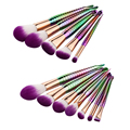 5/7pcs Professional Purple Fiber Makeup Comestic Brush Set Foundation Blusher Face Powder Brushes