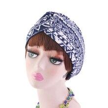 2019 moda estilo indio mujeres señoras mujeres sombreros flores leopardo estampado transpirable musulmán cabeza bufanda gorras