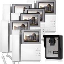 DIYSECUR Video Intercom Video Door Phone Doorbell 600TV Line IR Night Vision Outdoor Camera for Home / Office Security System