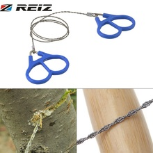 REIZ Outdoor Plastic Steel Wire Saw Ring Scroll Emergency Survival Gear Travel Camping Hiking Hunting Climbing Survival Tool