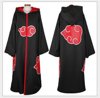 New Fashion Unisex Cosplay Costumes Japan Anime Naruto Itachi/Akatsuki Cosplay Robes Cool Man Cosplay Party Costumes in Stock