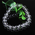 UMY New Trendy Natural Rock Crystal 10 mm Round Beads Stretch Bracelet Fashion Jewelry