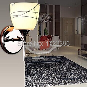 ФОТО White Modern LED Wall Lamp Lights With 1 Light For Home Livng Room Bedroom Wall Sconce Free Shipping,AC,E14,Bulb Included