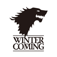1pc Winter Is Coming Wolf Game of Thrones Car Sticker Decoration Head Of Reflective Trunk Window for VW Audi Toyota