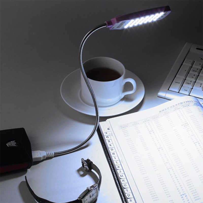 EeeToo Reading Lamp Night Lights USB Light Flexible Eye Care Bright Luminaria 28LEDS Table Lamps Computer LED Lamp For PC Laptop