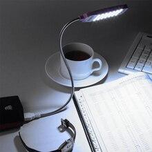 EeeToo Lesen Lampe Nacht Lichter USB Licht Flexible Augen Pflege Helle Luminaria 28LEDS Tisch Lampen Computer LED Lampe Für PC Laptop