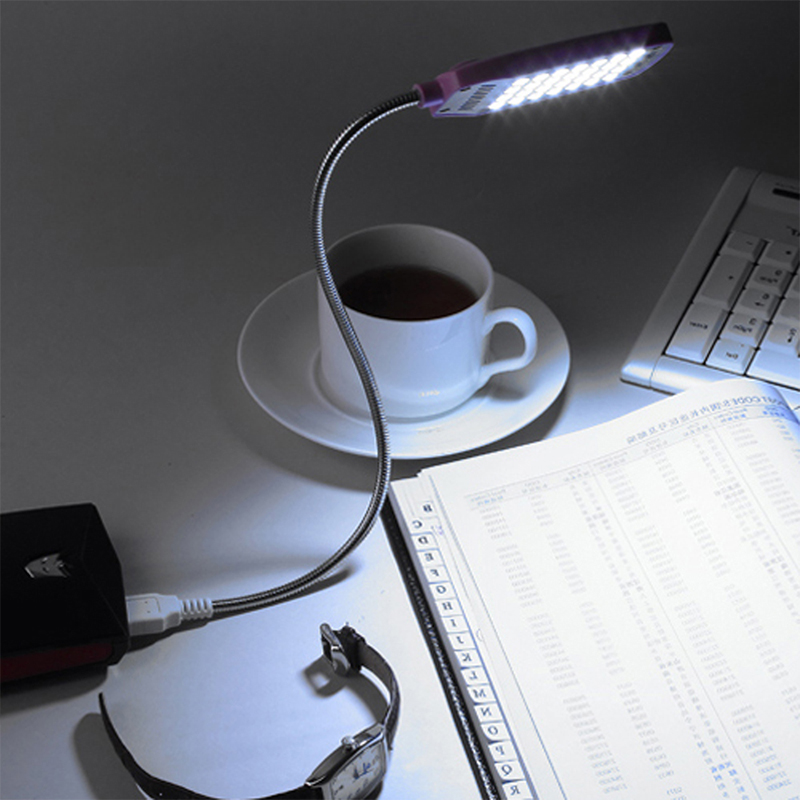 EeeToo Reading Lamp Night Lights USB Light Flexible Eye Care Bright Luminaria 28LEDS Table Lamps Computer LED Lamp For PC Laptop white rotating rechargeable led talbe lamp usb micro charging eye protection night light dimmerable bedsides luminaria de mesa