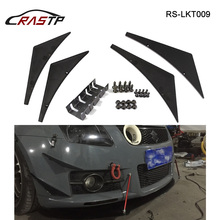 RASTP JDM Style Universal Car Front Spoiler Wing Blade ABS Protector Easy Install RS3-LKT009