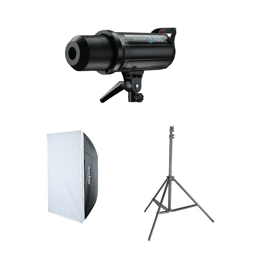1x Godox DE400 Studio Flash + 60x90cm Softbox + Light Stand Kit