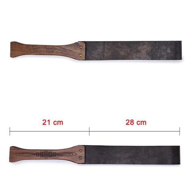 Brown Vintage Genuine Leather Whip Bdsm Spanking Flogger Wooden Handle Bdsm Bondage Whip Sex Toys For Woman Adult Games 3