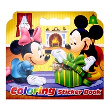 New 16 Pages Mickey Mouse Coloring Sticker Book For Children Adult Relieve Stress Kill Time Graffiti Painting Drawing Art Book