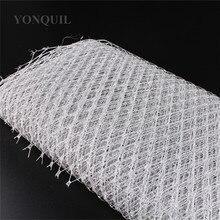 23CM Silver Birdcage Veil Netting Veiling Make In Millinery Hat BlingBling Veil Fabric Women Fascinator Hat Material Decoration