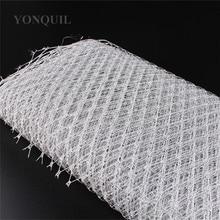23CM argento gabbia per uccelli velo rete velare fare In cappello da modilegno BlingBling velo tessuto donne Fascinator cappello materiale decorazione