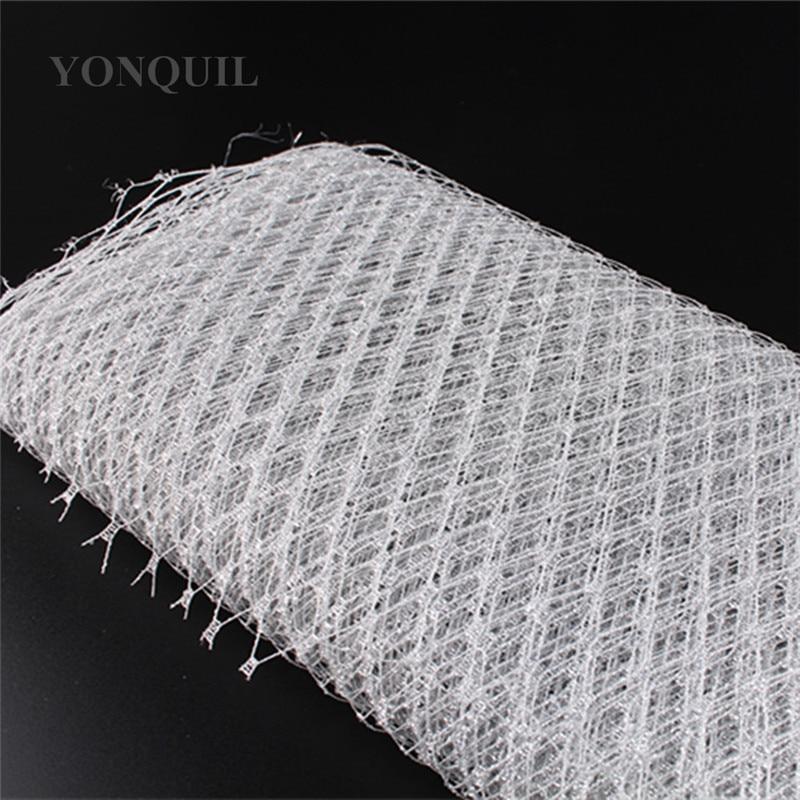 23CM silver Birdcage veil netting Veiling make in Millinery Hat BlingBling Veil Fabric Women Fascinator hat material decorationveil nettingveil fabricveil birdcage -