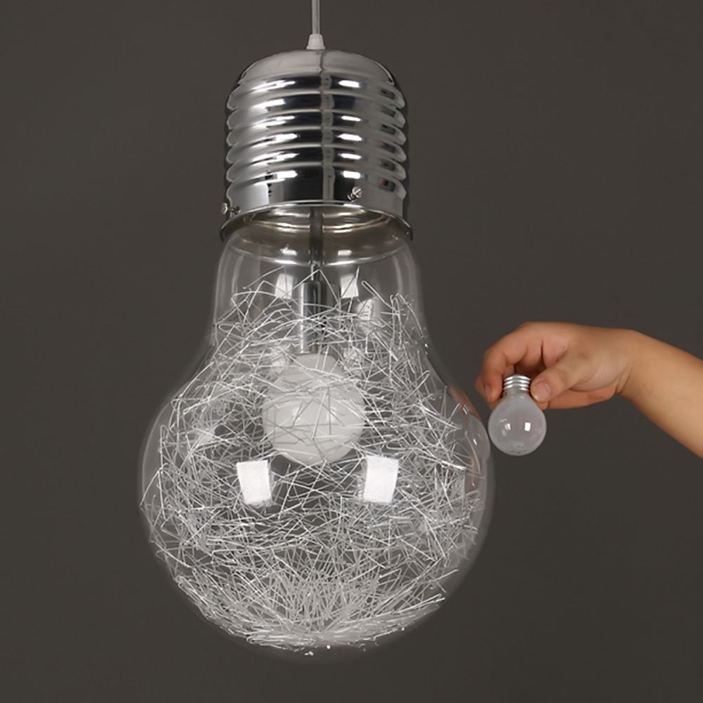 Mordern big bulb pendant light creative personality hanging lamp edison bulb american style for - Creative hanging lights ...