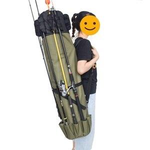 Image 4 - Elemento Portante Del Sacchetto di Canna da pesca Da Pesca Bobina Organizzatore Pole Sacchetto di Immagazzinaggio per la Pesca e Viaggiare Bobina Custodia Organizer Pole Sacchetto di Immagazzinaggio