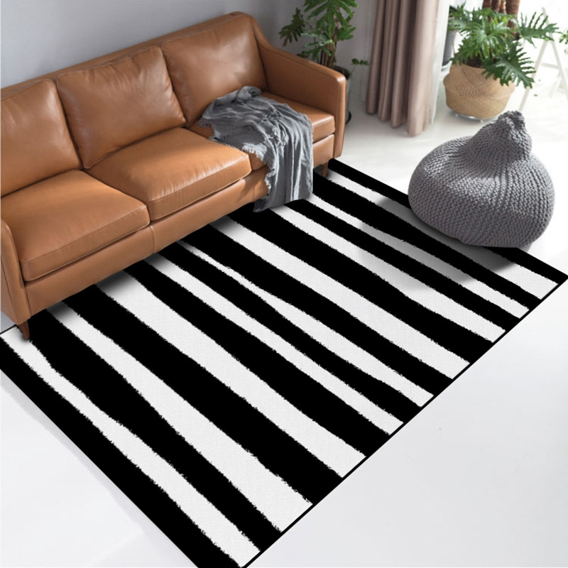Geometric Black White Striped Living Room Area Rugs Bedside Floor Carpets Nordic Simple Home Decor Office Sofa Floor Mats Tapete Rug Aliexpress