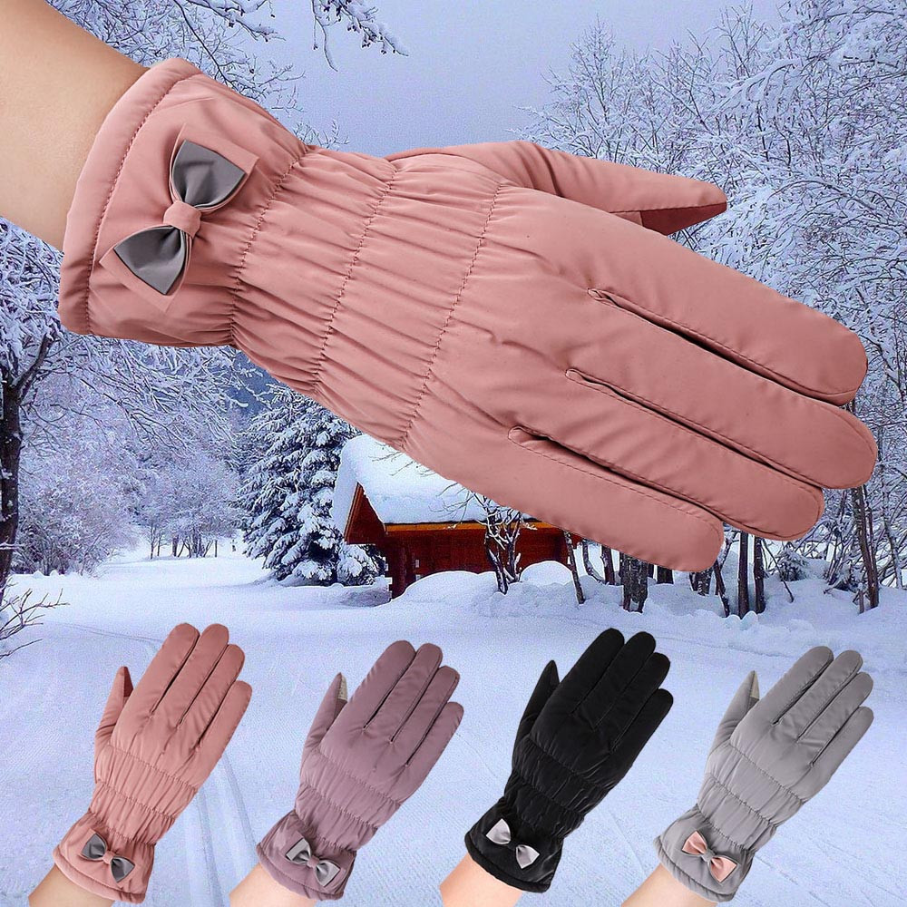 20118 dicke Handschuhe Frauen Wasserdicht Winddicht Handschuhe Winter Im Freien Warme Ski Handschuhe Wolle Handschuhe Luva Motociclista # IL5