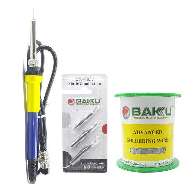 BAKU Electric Soldering Iron Kit Rework Station Handle for 936 878L 601D