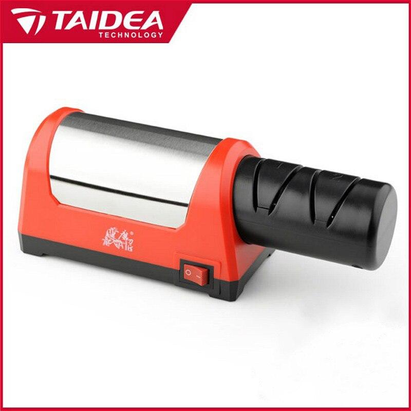 TAIDEA T1031D Elétrica Afiador De Aço do Diamante Com Slot 2 Nível Superior de Cerâmica Para Cozinha Faca h5