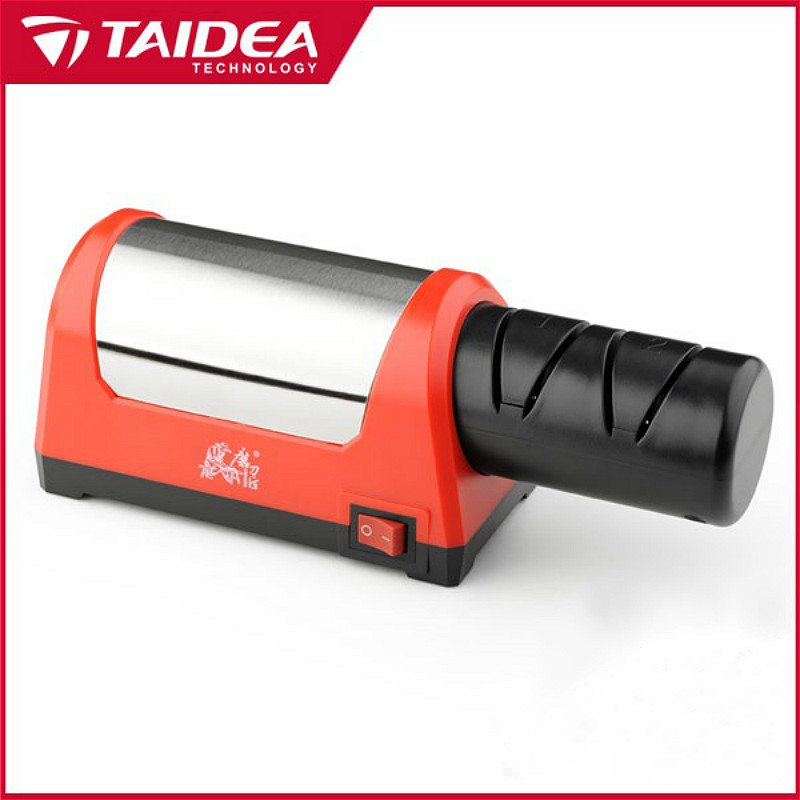 TAIDEA Top Level T1031D Electric Diamond Steel Sharpener Med 2 Slot Til Køkken Keramisk Kniv H5