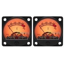 2pcs DB Level AC Voltmeter VU Panel Meter Header w/Backlight & Power Supply Module