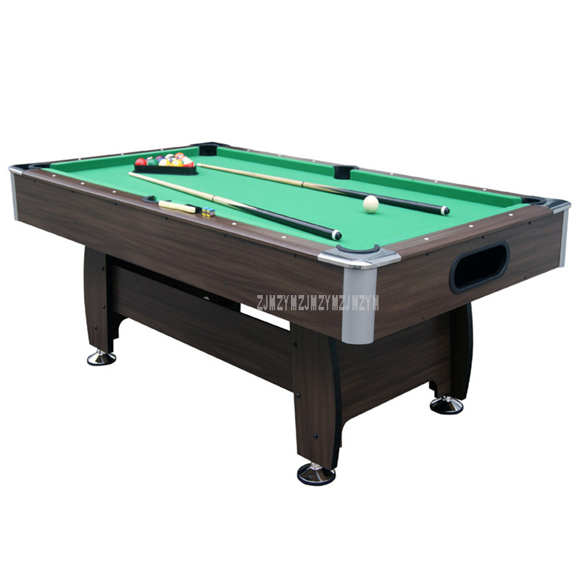 SUB-8446R-1LZ American Style 7 Feet Wood Billiard Table With 16pcs Balls 2 Cue Modern Strong Frame Leg Sport Equipment Snooker