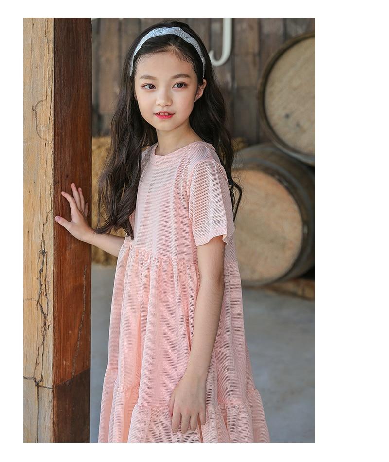 ee37d5d2632b0 cotton hollow out summer dress for girls white pink ruffles toddler dress  children girl knee length dress clothing 2018