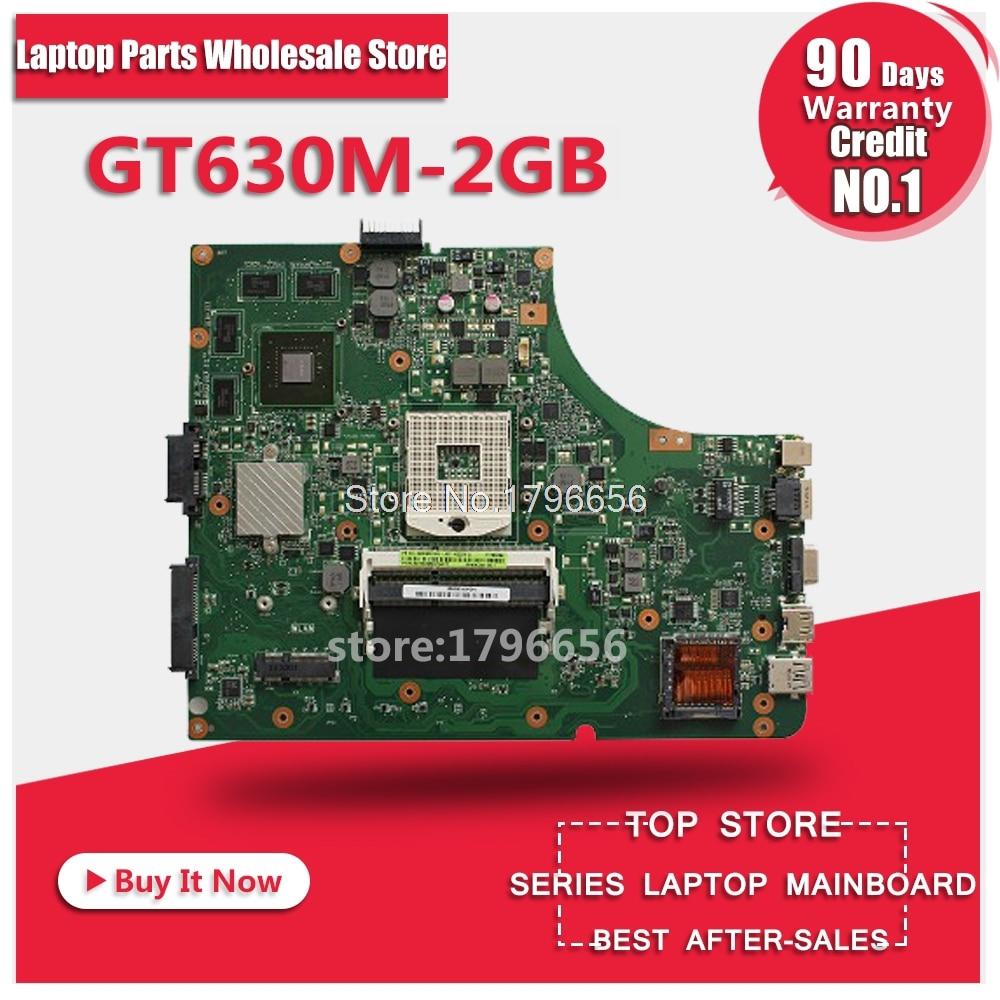 цена на K53SV motherboard GT630M 2GB K53SV REV:3.2/3.1 For ASUS A53S K53S X53S P53S K53SJ K53SM K53SV laptop motherboard K53SM Mainboard